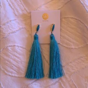 Gorjana Turquoise Tassel Earrings